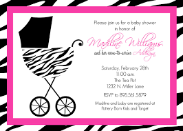 zebra baby shower pink and black zebra baby shower invitations theruntime