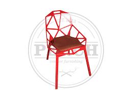 Red Metal Chair Metal Dining Chairs U2014 Perch Interior Furnishing
