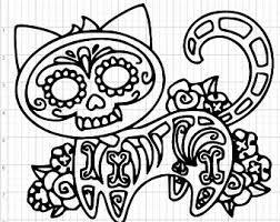 sugar skull design etsy