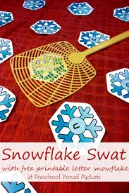 snowflake swat letter learning free printable and 6 ways to play