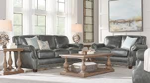 Living Room Furniture Sets Leather Gray Living Room Furniture Sets Thedailygraff