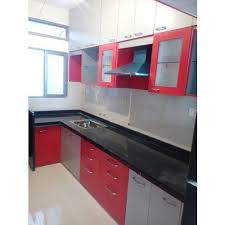 wooden modular kitchen furniture at rs 50000 set rasoighar ke