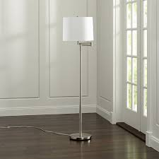 Crate And Barrel Wall Sconce Metro Ii Brushed Nickel Swing Arm Floor Lamp Crate And Barrel