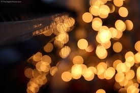 Amber Christmas Lights Christmas Lights Reflecting On Piano