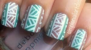 tribal print nail art youtube