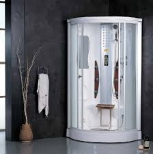 bathroom spectacular white guest custom steam shower kits at