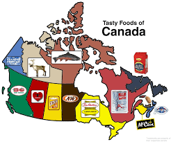 Canada Provinces Map by Tasty Foods Of Canada Map