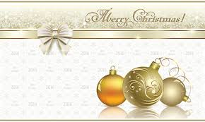 gold background with christmas blue snowflakes free vector
