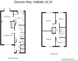 Hatfield House Floor Plan by 3 Bedroom Terraced House For Sale In Drovers Way Hatfield Al10 Al10