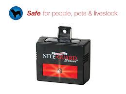 nite guard solar predator control light 4 pack safe for people pets livestock nite guard