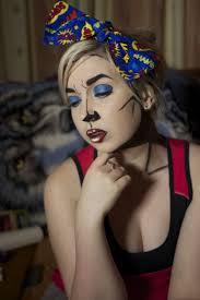 pop art comic book makeup by nikkipandahat on deviantart