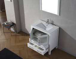 White Bathroom Vanity 30 Inch by Virtu Usa Dior 32 Single Bathroom Vanity Set In White Bathtubs Plus