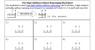 addition 3 digit addition no regrouping free math worksheets