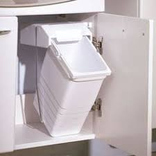 garbage can under the sink the wesco shorty internal waste bin with two bin compartments has