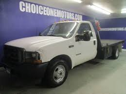 Ford Diesel Truck Used - 2001 used ford super duty f 350 drw regular cab flatbed dually 7 3