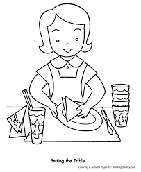 Kids Coloring Table Christmas Party Coloring Pages Setting The Table For The