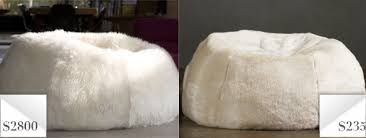 knockout knockoffs luxury fur bean bag chair the krazy coupon lady