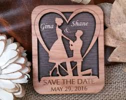 save the date wedding magnets wood save the date wedding invitation guest by amazingwoodcraft
