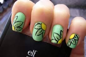 14 cute and easy flower nail designs