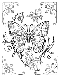 coloring page butterflies digital download also for older