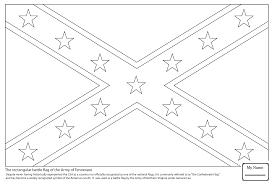 Civil War Rebel Flag Coloring Pages For Kids Confederate Flag American Civil War