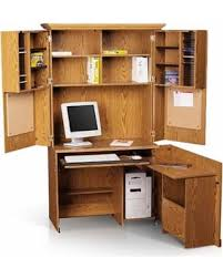 Sauder Armoire Computer Desk Great Deals On Sauder Computer Armoire Forest Collection Brown