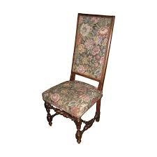 chaises louis xiii chaise louis xiii en noyer recouverte de faux gobelin epoque 19ème