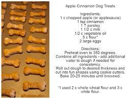 apple cinnamon dog treats