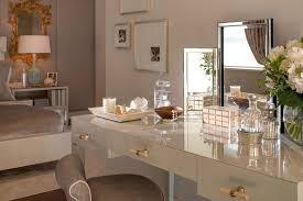 Mirrored Glass Vanity Glass Makeup Vanity Table Table Designs