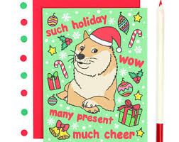 Doge Meme Template - funny thank you card such thanks doge card