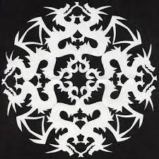 snowflake cutout patterns pattern that i cut out of