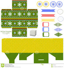 christmas gift box template stock vector image 46960681