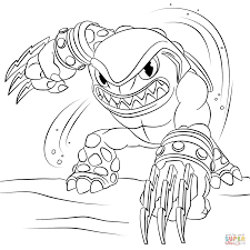 skylanders terrafin coloring page free printable coloring pages