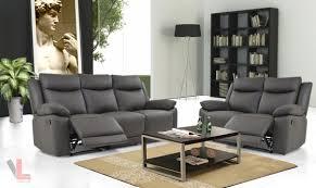 leather reclining sofa loveseat volo espresso leather reclining sofa and loveseat set by levoluxe