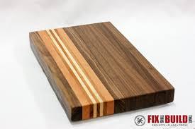 a wood cutting board 5074