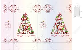 template for christmas bag design royalty free cliparts vectors