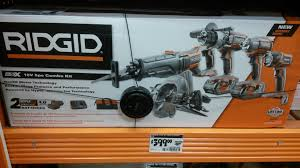 sneak peak at home depot black friday sales ridgid gen5x combo kit 5 power tools for 399