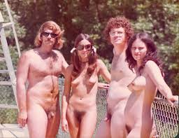 Nudism in Brazil  black boys and girls are engaged in a nudism