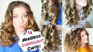 4 overnight no heat curls overnight heatless curl methods