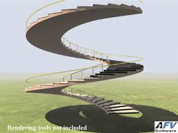 create circular stairs in autocad helical stair addon