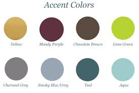what color goes with green accent colors