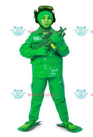 toy green army man halloween soldier costume for kids