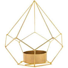 metal tea light holders gold geometric metal tea light holder hobby lobby 1124486