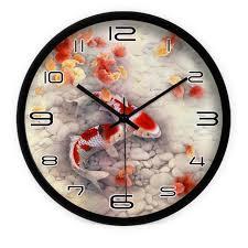horloge sur le bureau moderne motif de la carpe ménages horloge murale créative