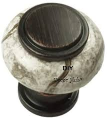 diy knobs on kitchen cabinets diy décor hub 10 small rubbed bronze and beige ceramic knobs pulls for cabinets cupboard dresser drawers for kitchen bathroom or office 1 22
