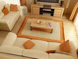 living room cute small furniture designs with white gallery cute small living room furniture designs with white leather arms sofa sets also orange shag further rug and tan wooden laminate flooring