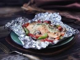 cuisinez v saumon en papillote grillé cuisinez avec cbells