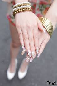 jeweled japanese nail art u2013 tokyo fashion news