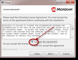 Read and accept the terms of the license to proceed with the installation  Microchip Developer Help   Wikidot
