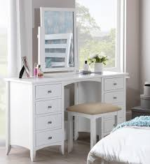 white contemporary dressing table edward hopper white dressing table 8 drawers metal runners chrome
